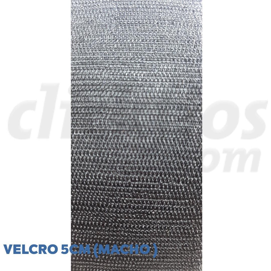 Velcro de 5 cm conjunto macho e fêmea na cor preto caixa com 25 metros
