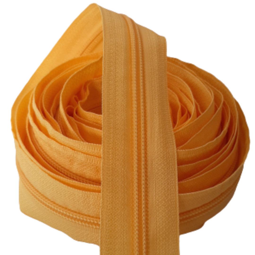 Zíper por metro Nº 5 - 5mm cor Amarelo Médio rolo c/ 5 metros