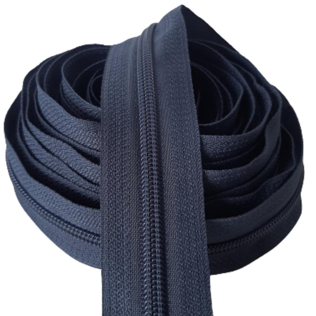 Zíper por metro Nº 5 - 5mm cor Azul Marinho rolo c/ 5 metros