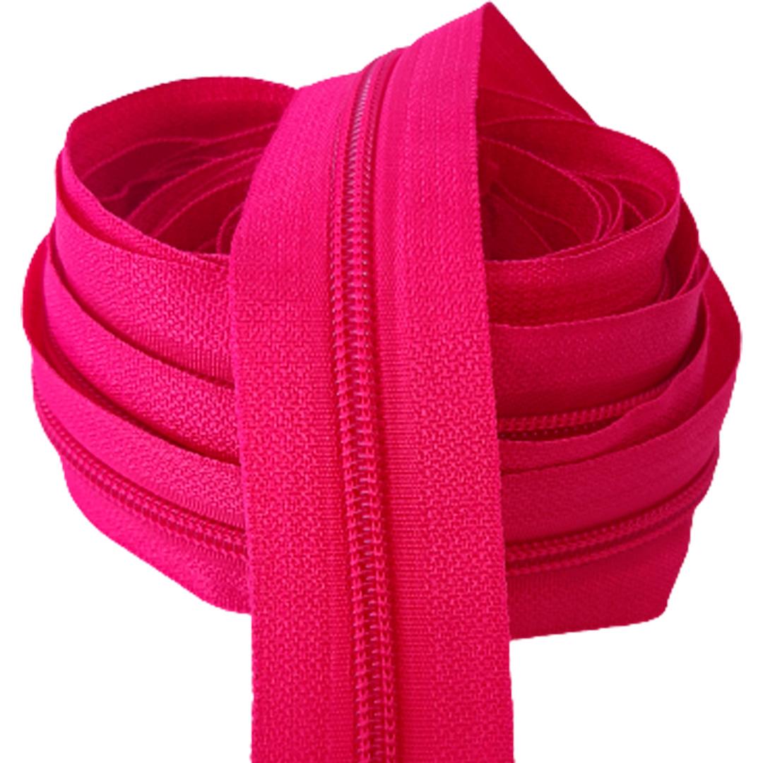 Zíper por metro Nº 5 - 5mm cor Pink rolo c/ 5 metros