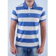 Camisa Barrocco Pólo Listra Thick Azul