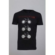 Camiseta Barrocco Bicicletas Preta