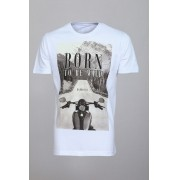Camiseta Barrocco Born To Be Wild Branca