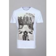Camiseta Barrocco Born To Be Wild Branca