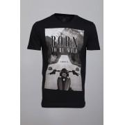 Camiseta Barrocco Born To Be Wild Preta