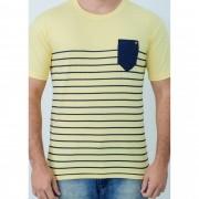 Camiseta Barrocco Pocket Amarela