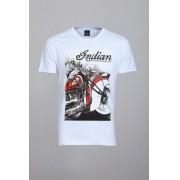 Camiseta Cool Wave Indian Motorcycles Branca