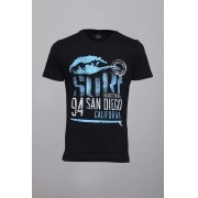 Camiseta CoolWave Black´s Beach.CA Preto