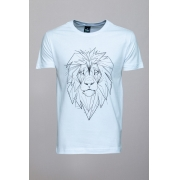 Camiseta CoolWave Lion Sketch Branca