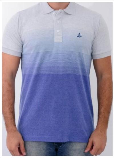 Camisa Barrocco Pólo Degradê Azul