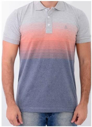 Camisa Barrocco Pólo Degradê Laranja