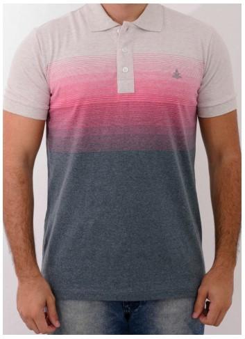 Camisa Barrocco Pólo Degradê Rosa