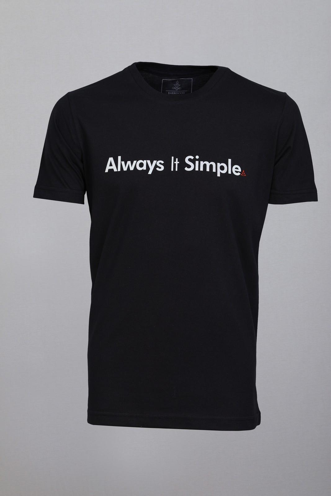 Camiseta Barrocco Always It Simple Preta
