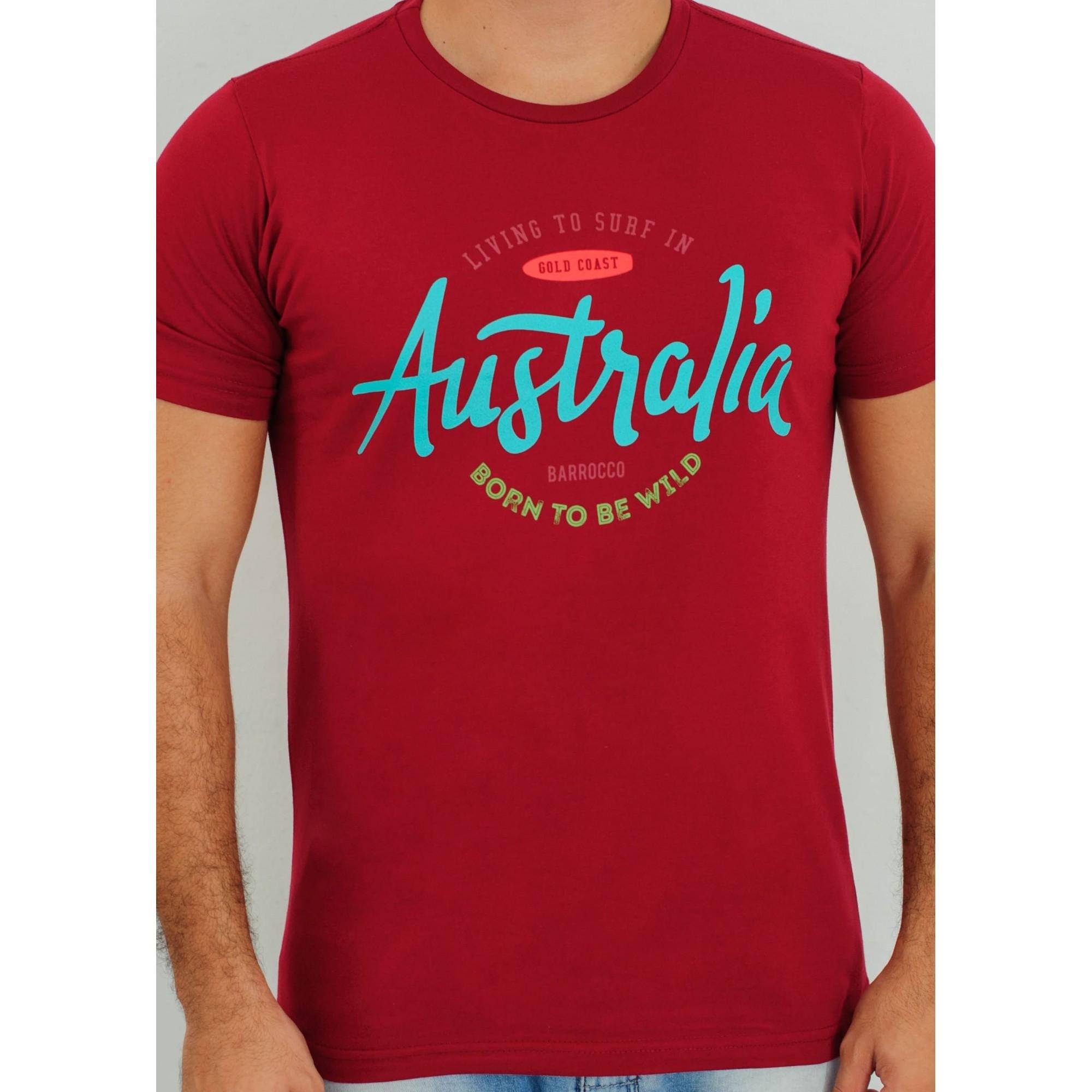 Camiseta Barrocco Austrália Vermelha