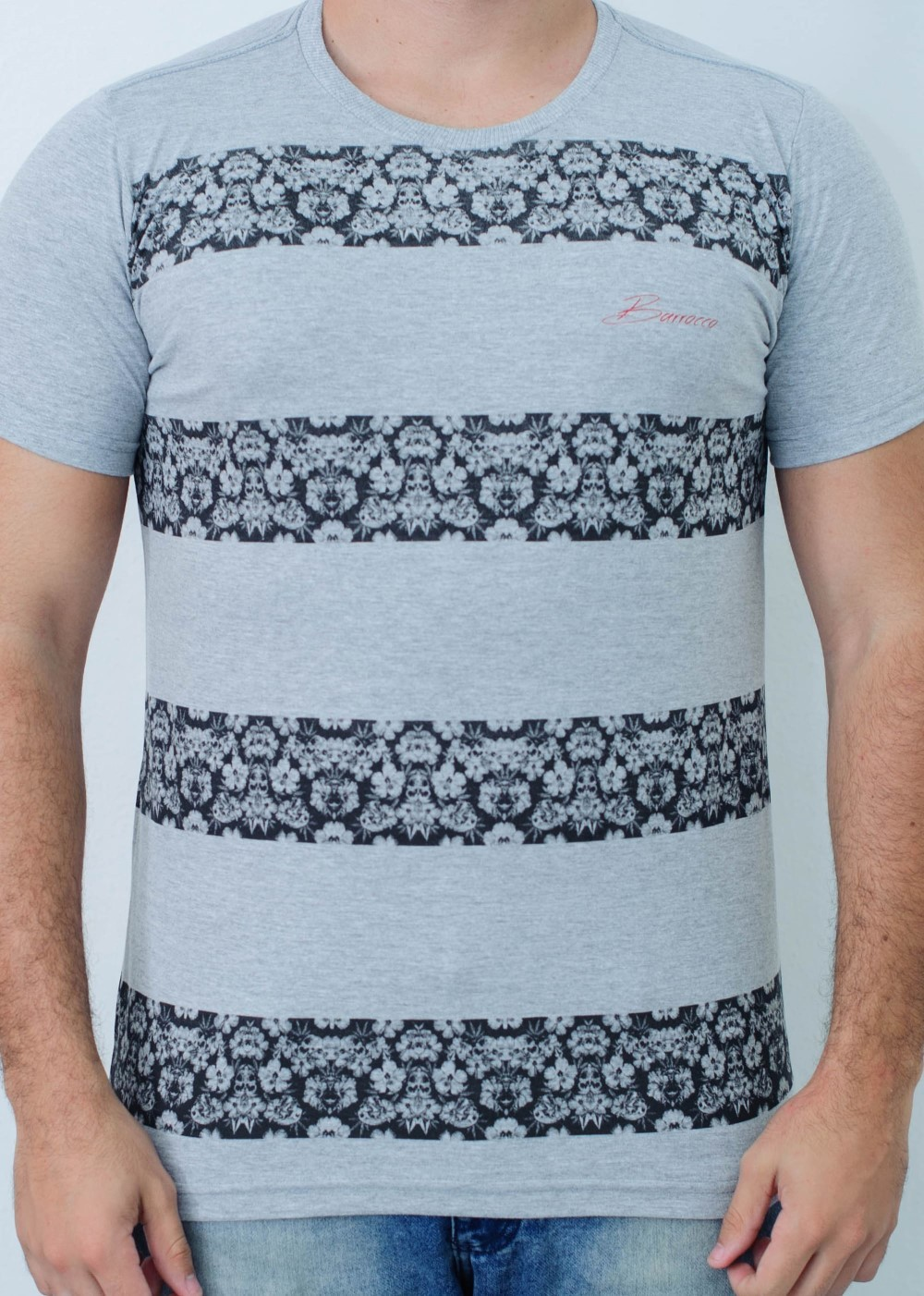 Camiseta Barrocco Band Mescla Claro