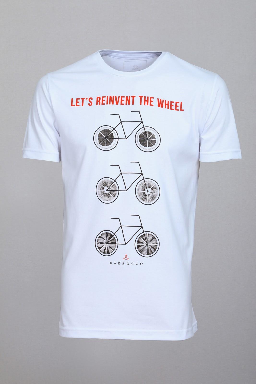 Camiseta Barrocco Bicicletas Branca
