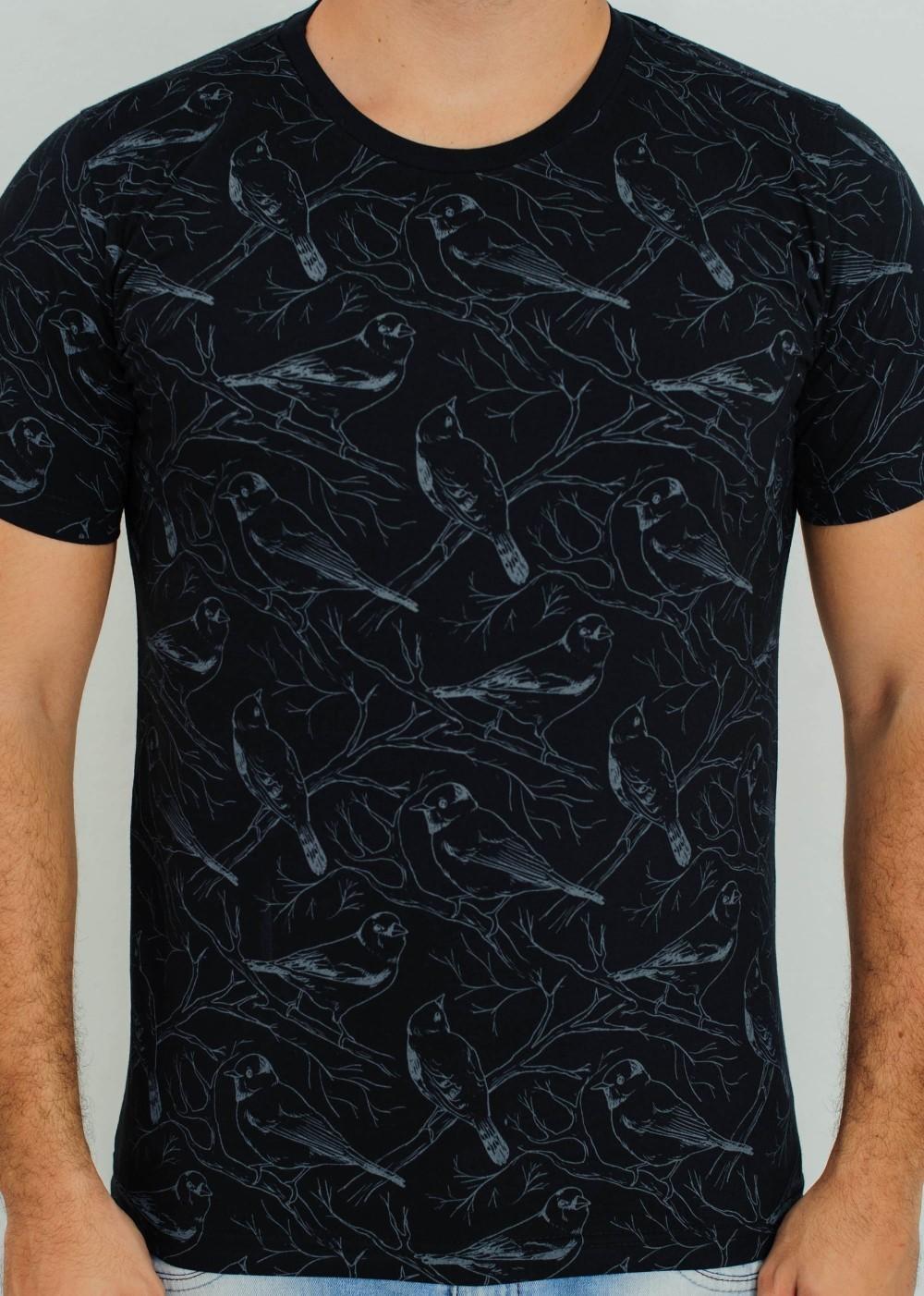 Camiseta Barrocco Birds Preta