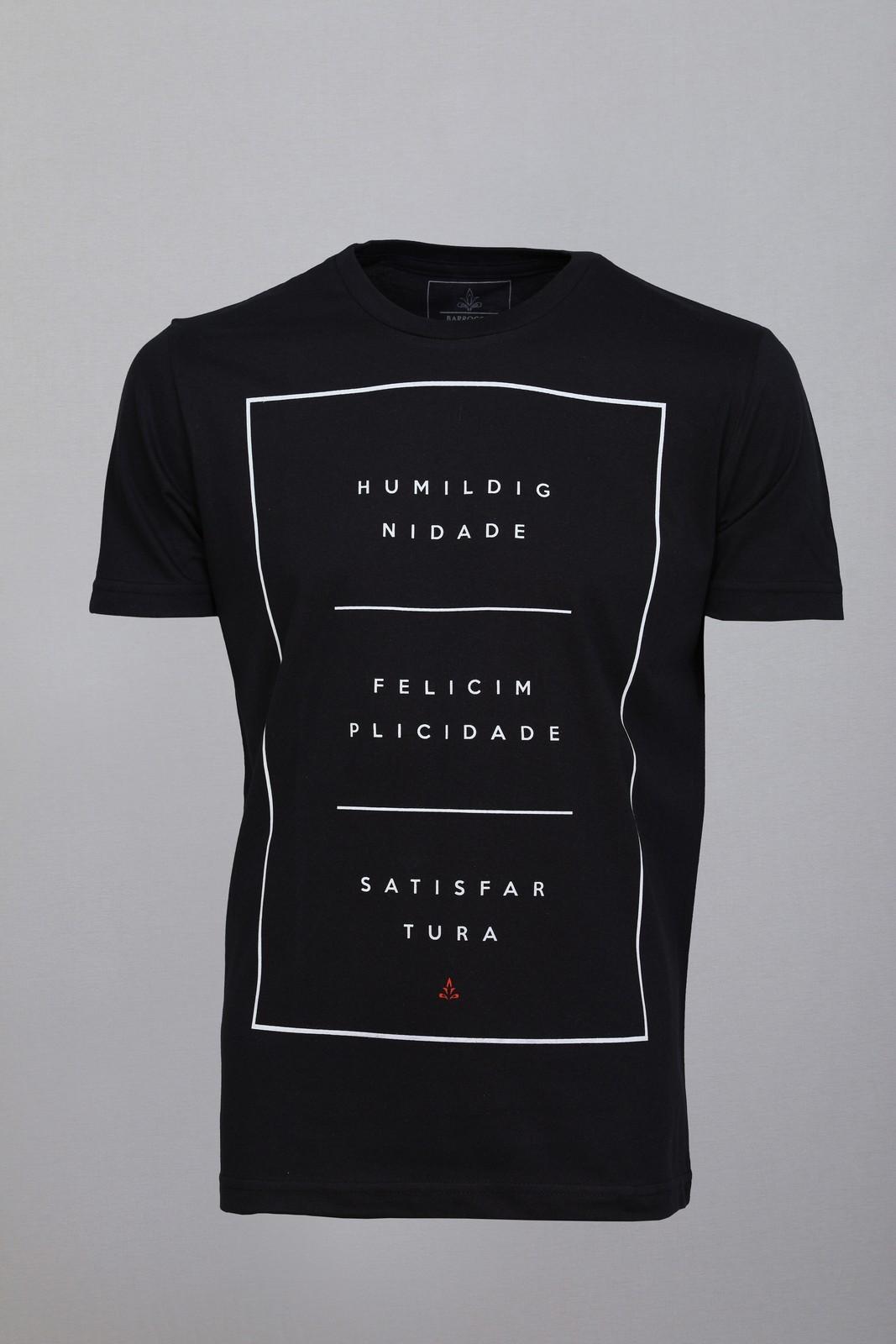 Camiseta Barrocco Equilíbrio Preta