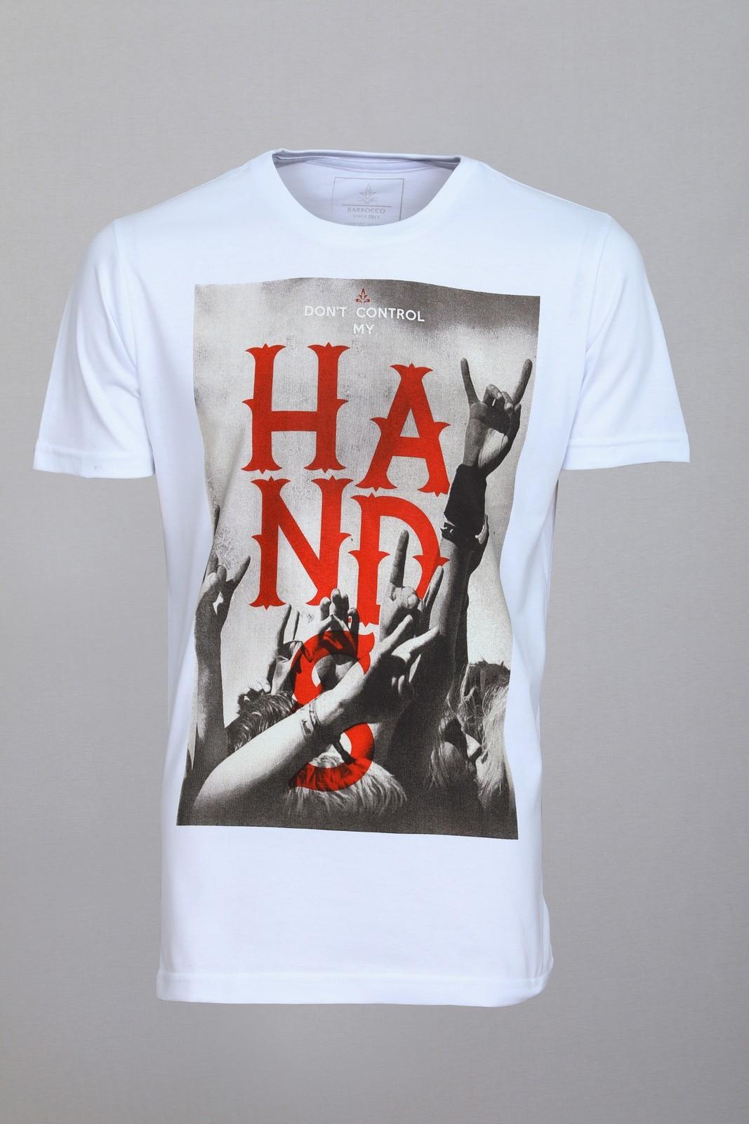 Camiseta Barrocco Hands Branca