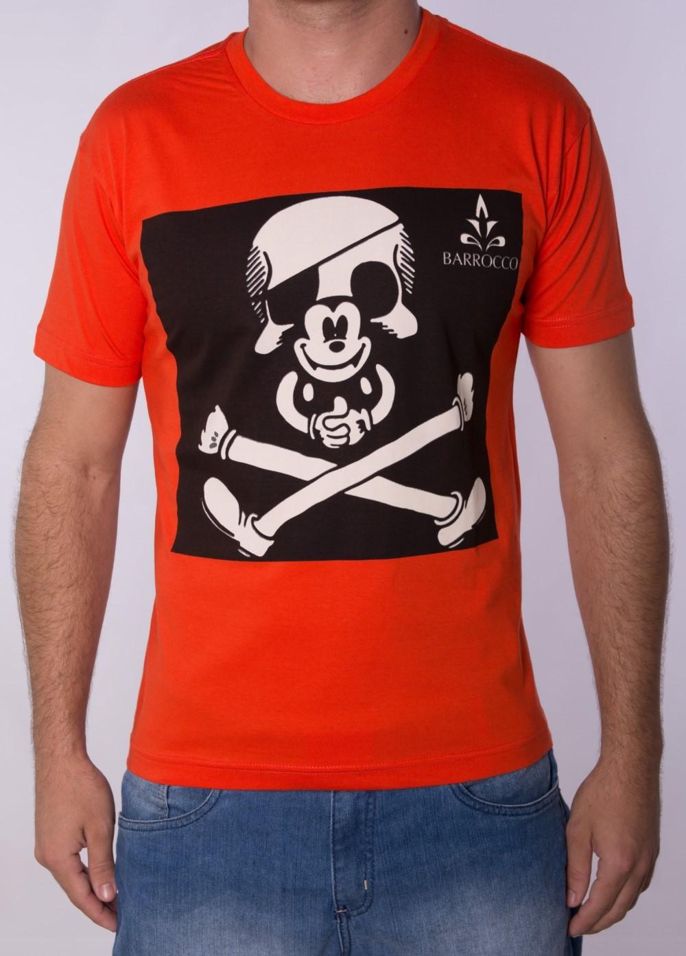 Camiseta Barrocco Mickey Laranja