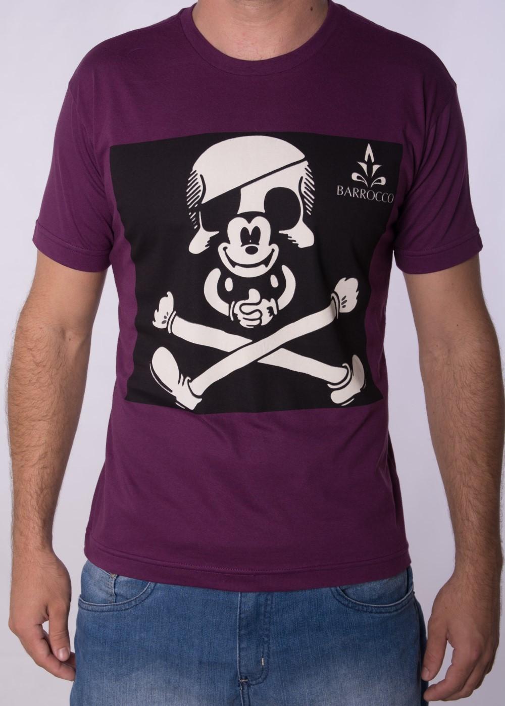 Camiseta Barrocco Mickey Roxa