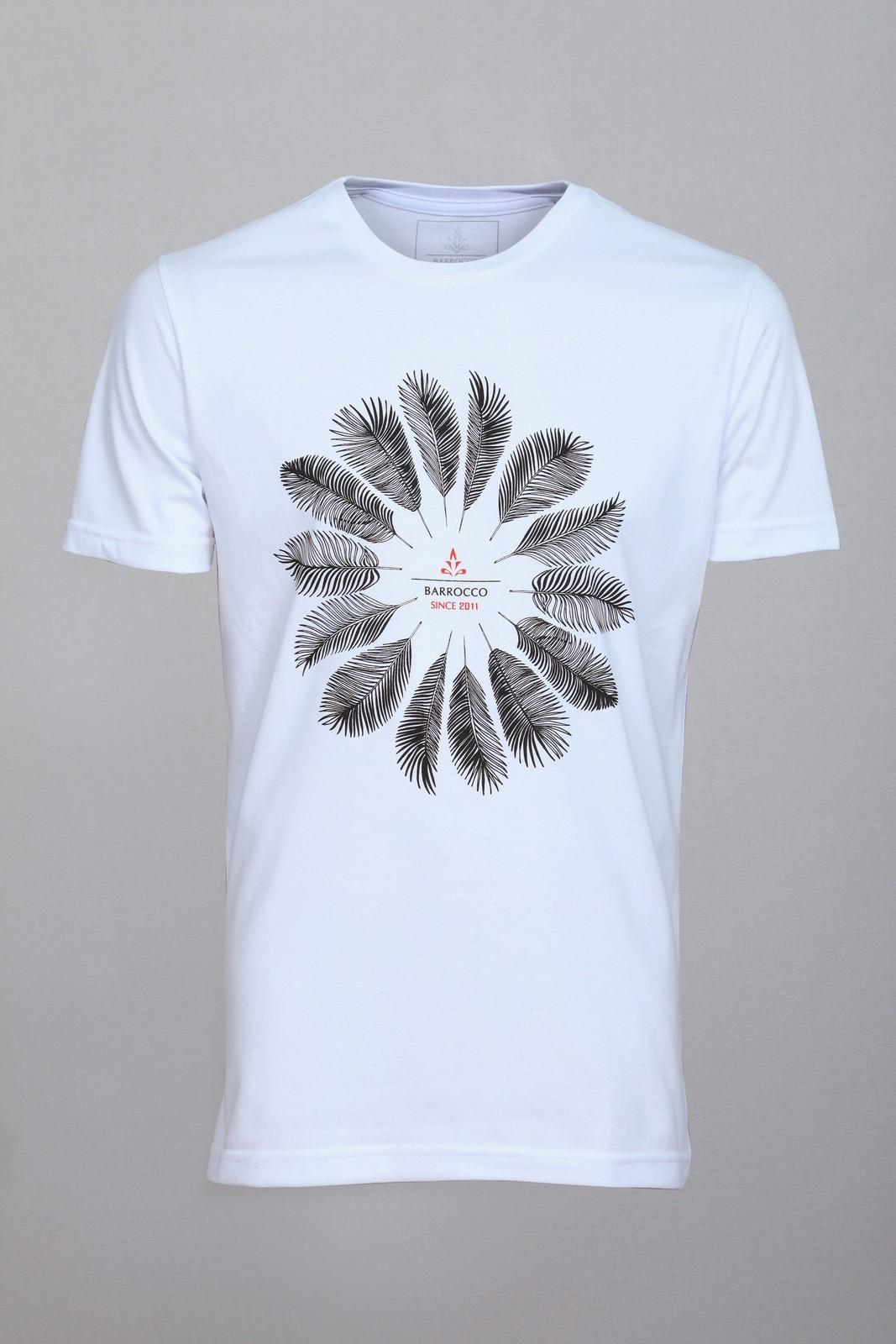 Camiseta Barrocco Palmeira Branca