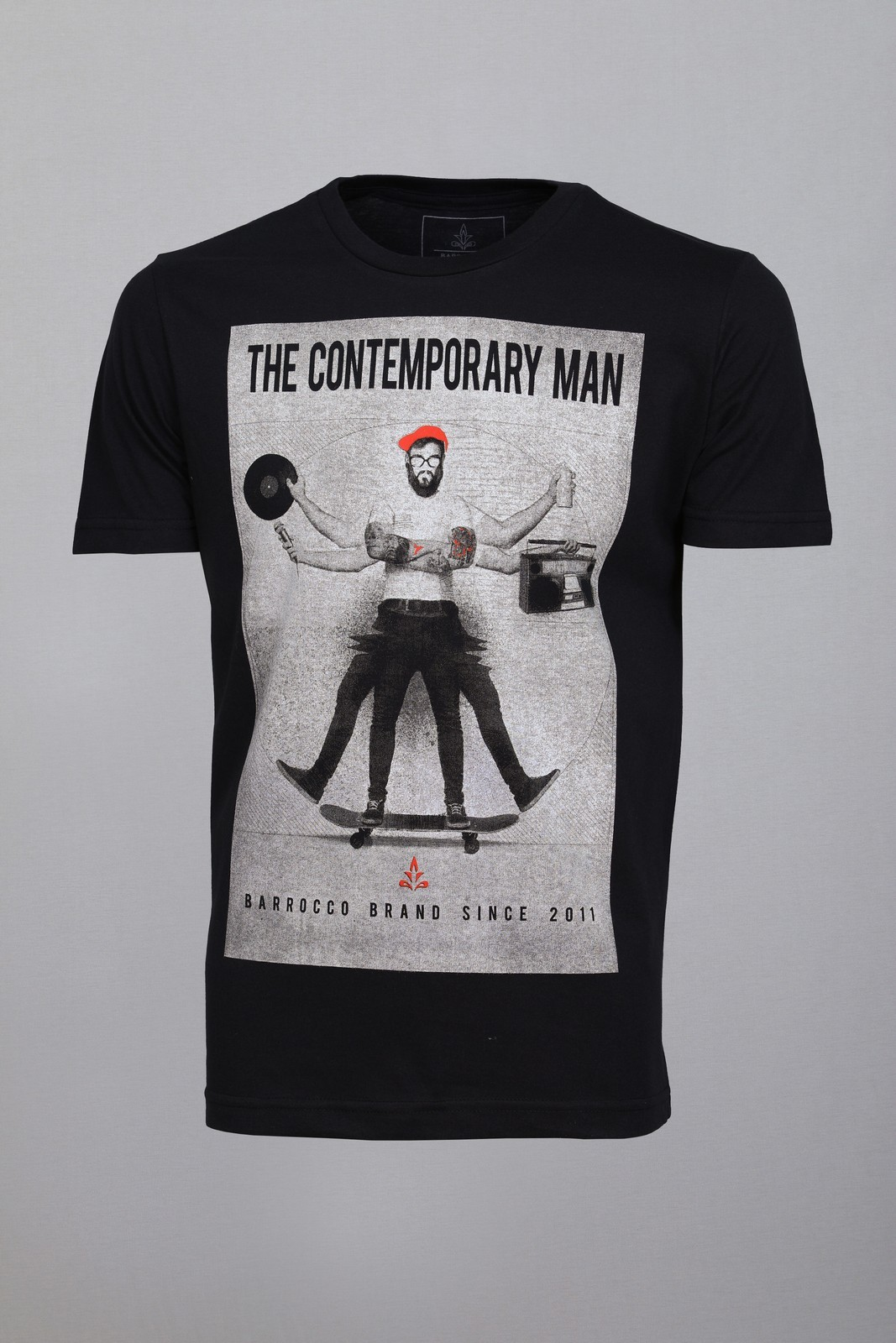 Camiseta Barrocco The Contemporary Man Preta