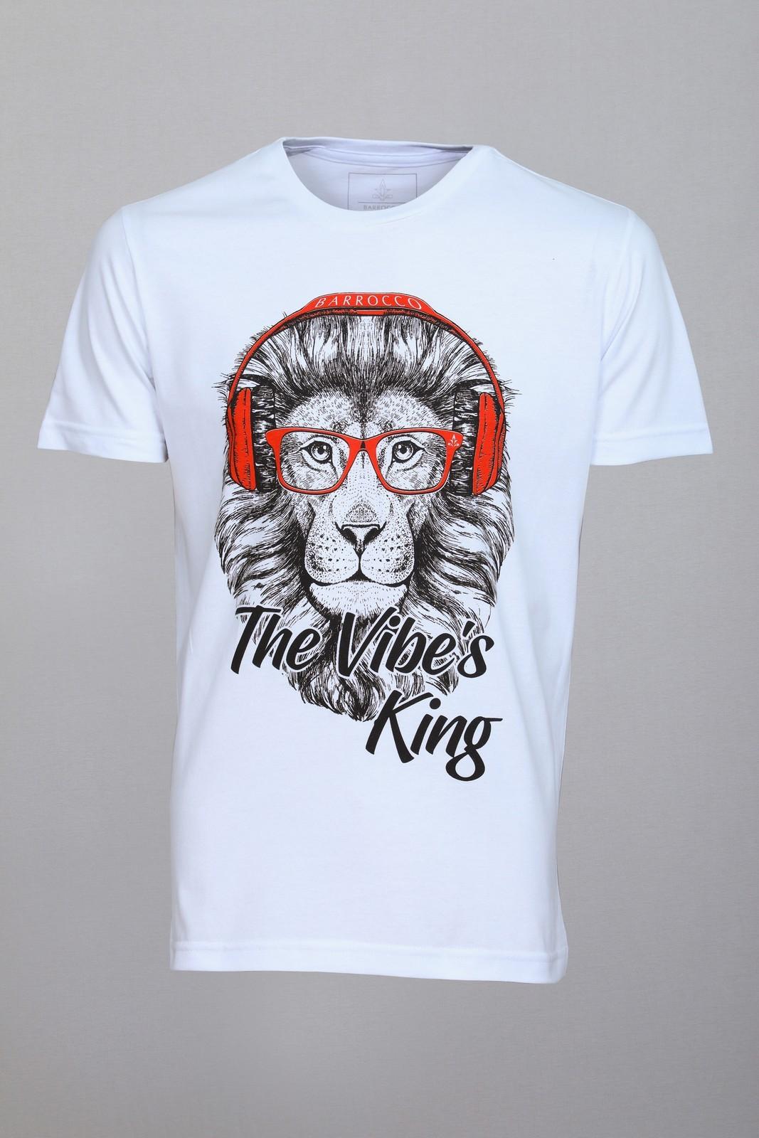 Camiseta Barrocco The Vibe´s King Branca