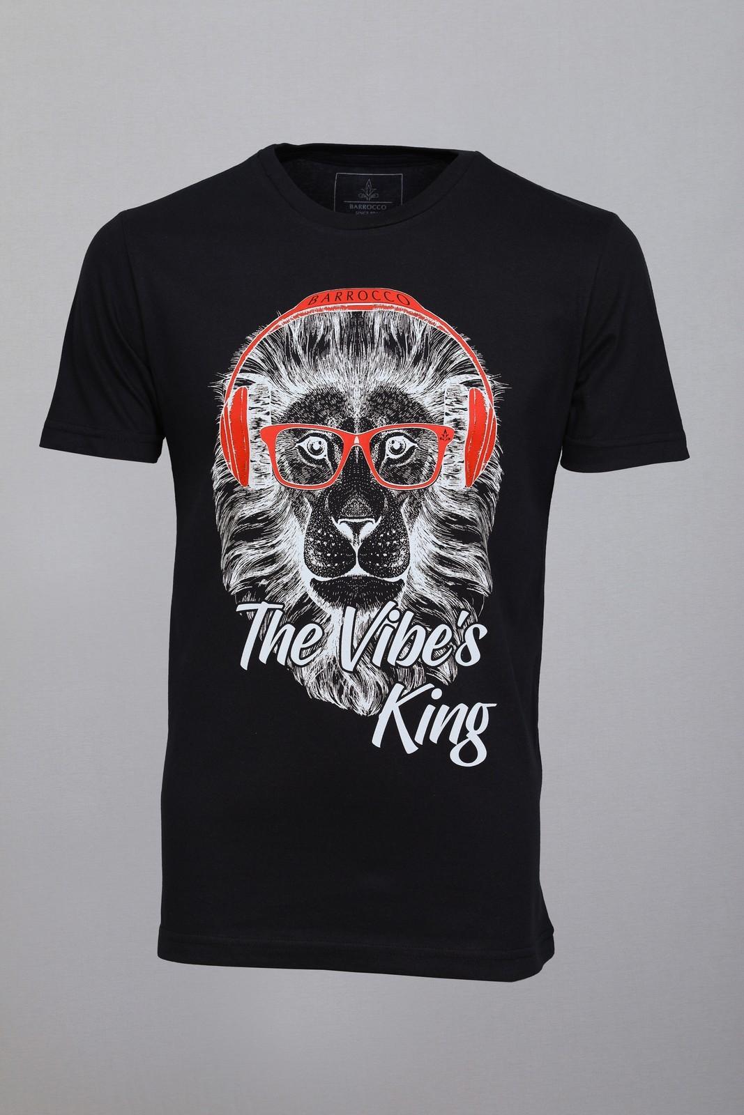 Camiseta Barrocco The Vibe´s King Preta