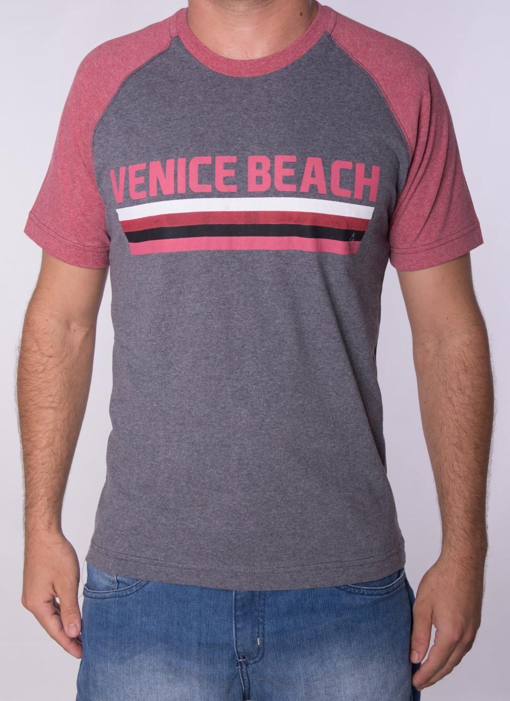 Camiseta Barrocco Venice Beach Mescla Escuro