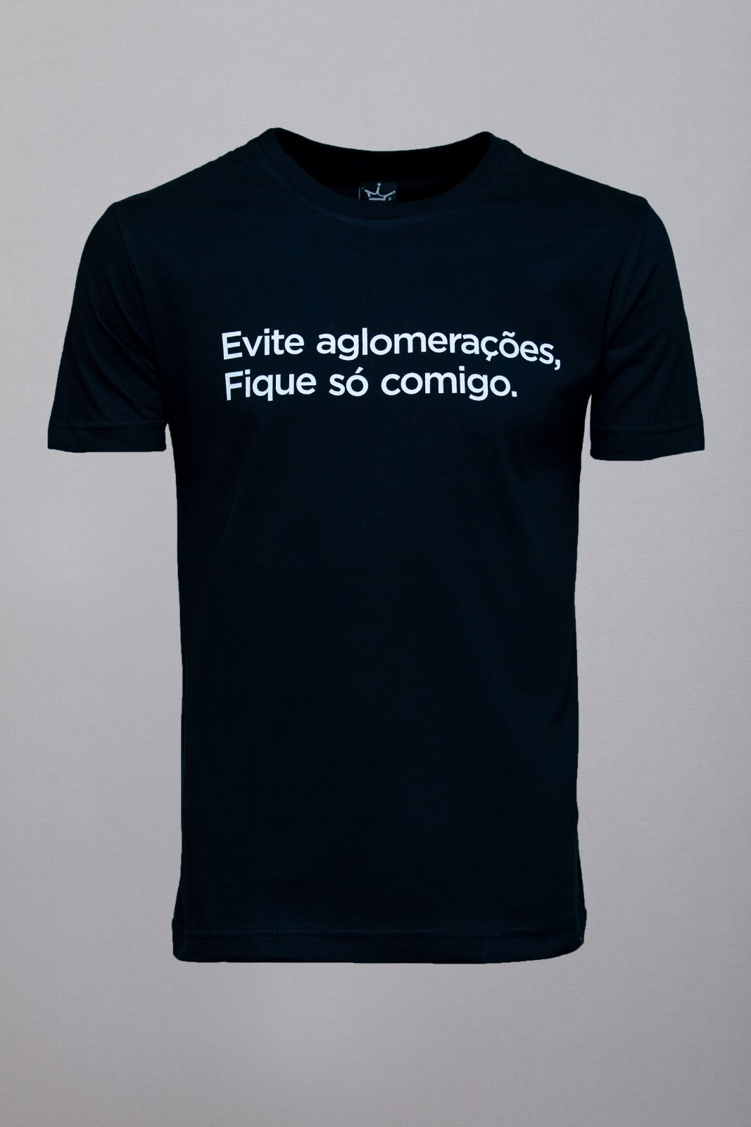 Camiseta CoolWave Evite Aglomerações Preta
