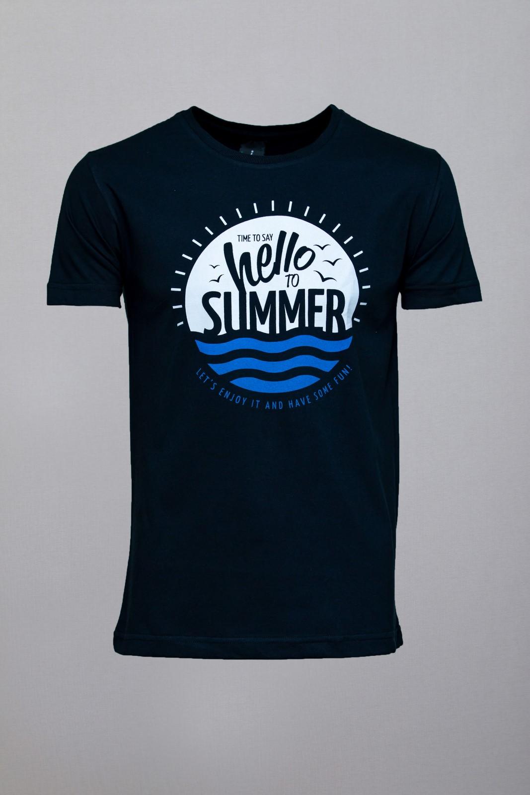 Camiseta CoolWave Hello to Summer Preta