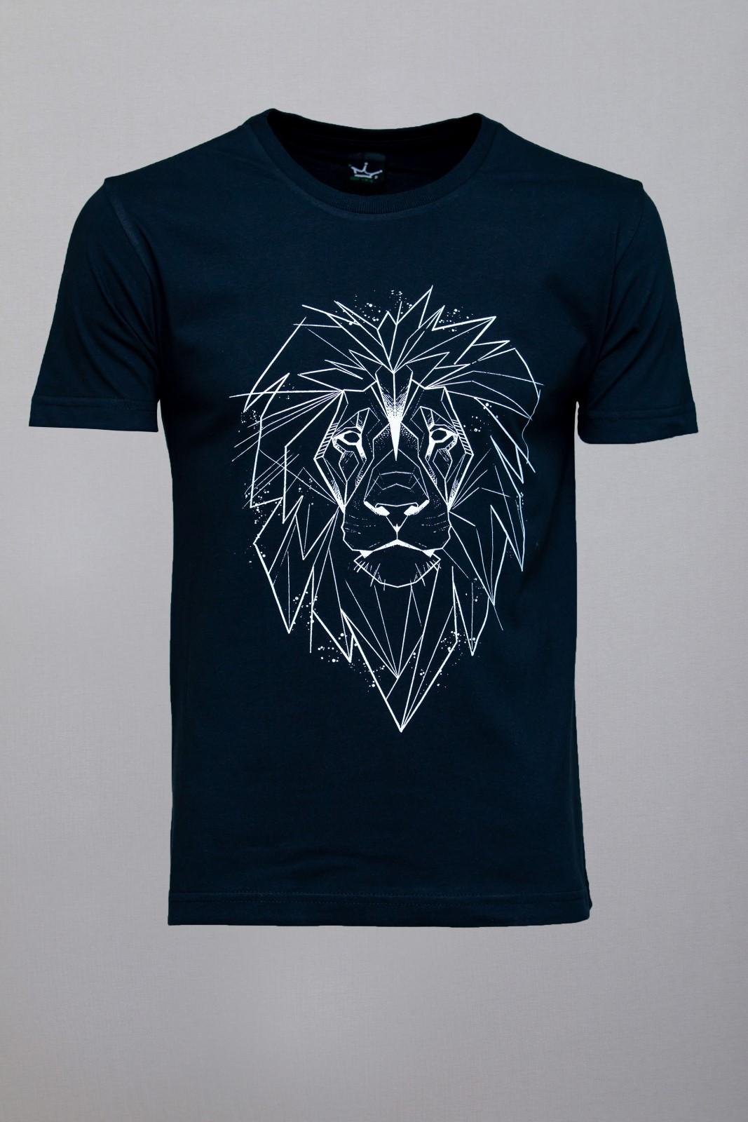 Camiseta CoolWave Lion Sketch Preta