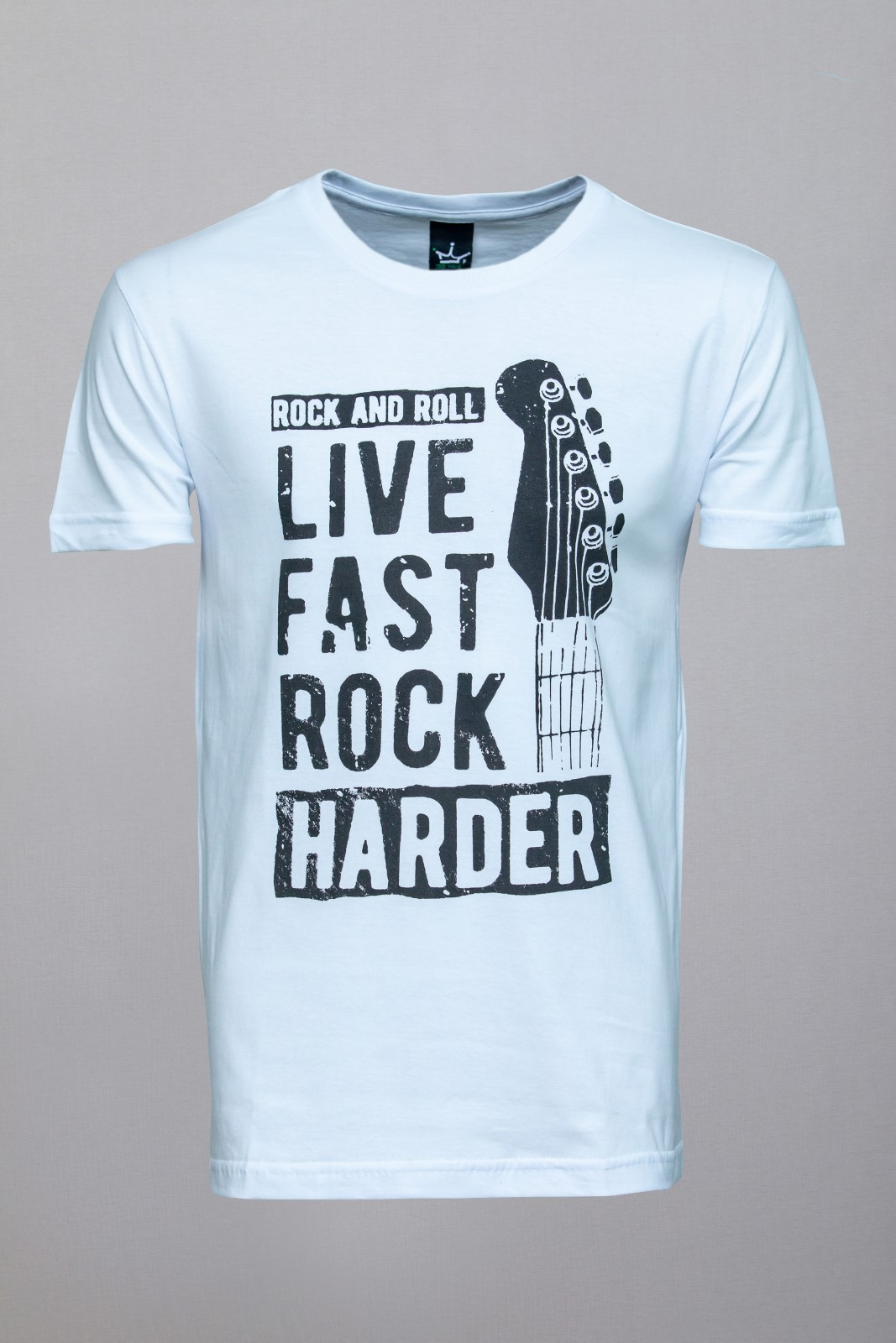 Camiseta CoolWave Live, Fast, Rock, Harder Branca