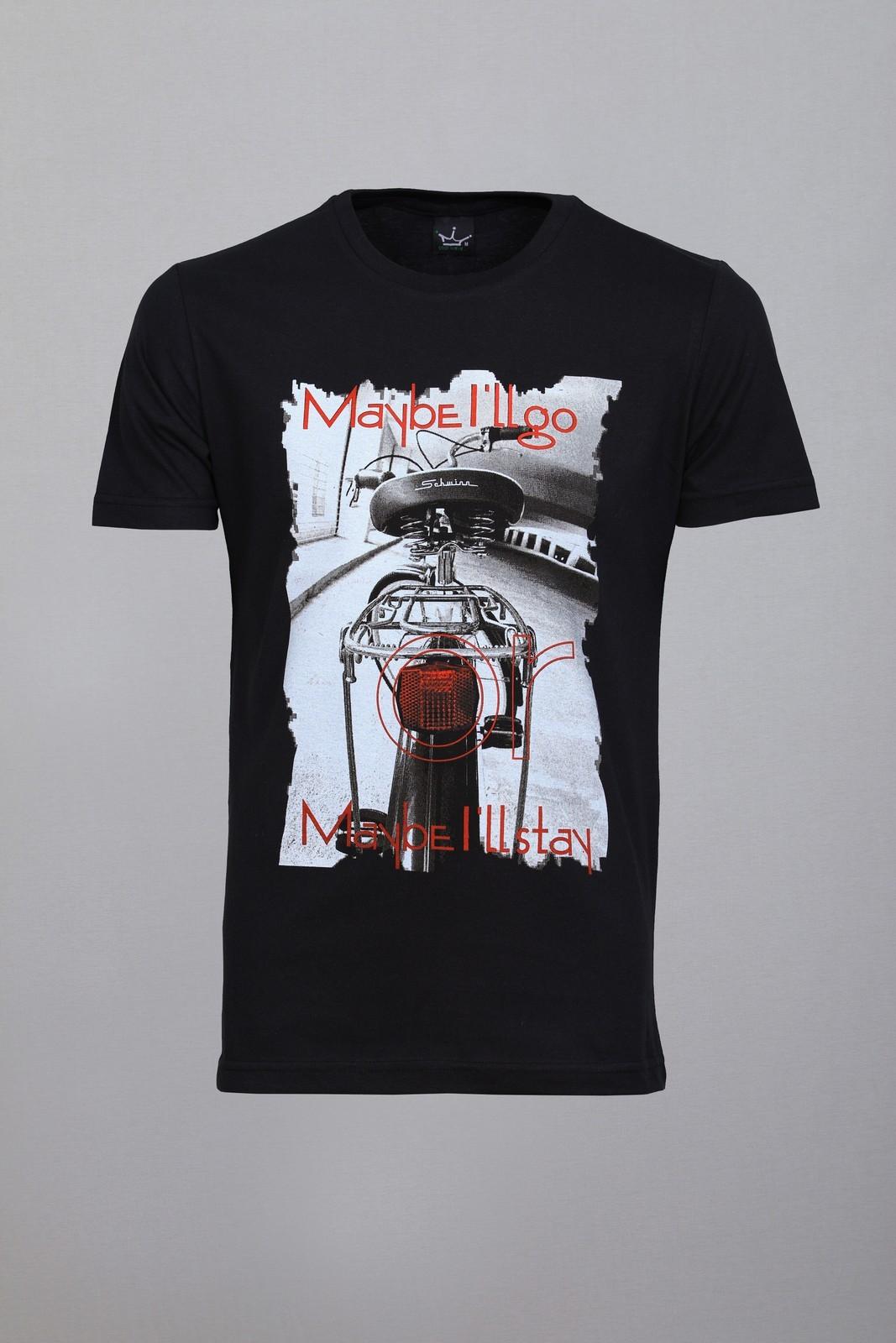 Camiseta CoolWave Maybe I'll Go, Maybe I'll Stay Preta