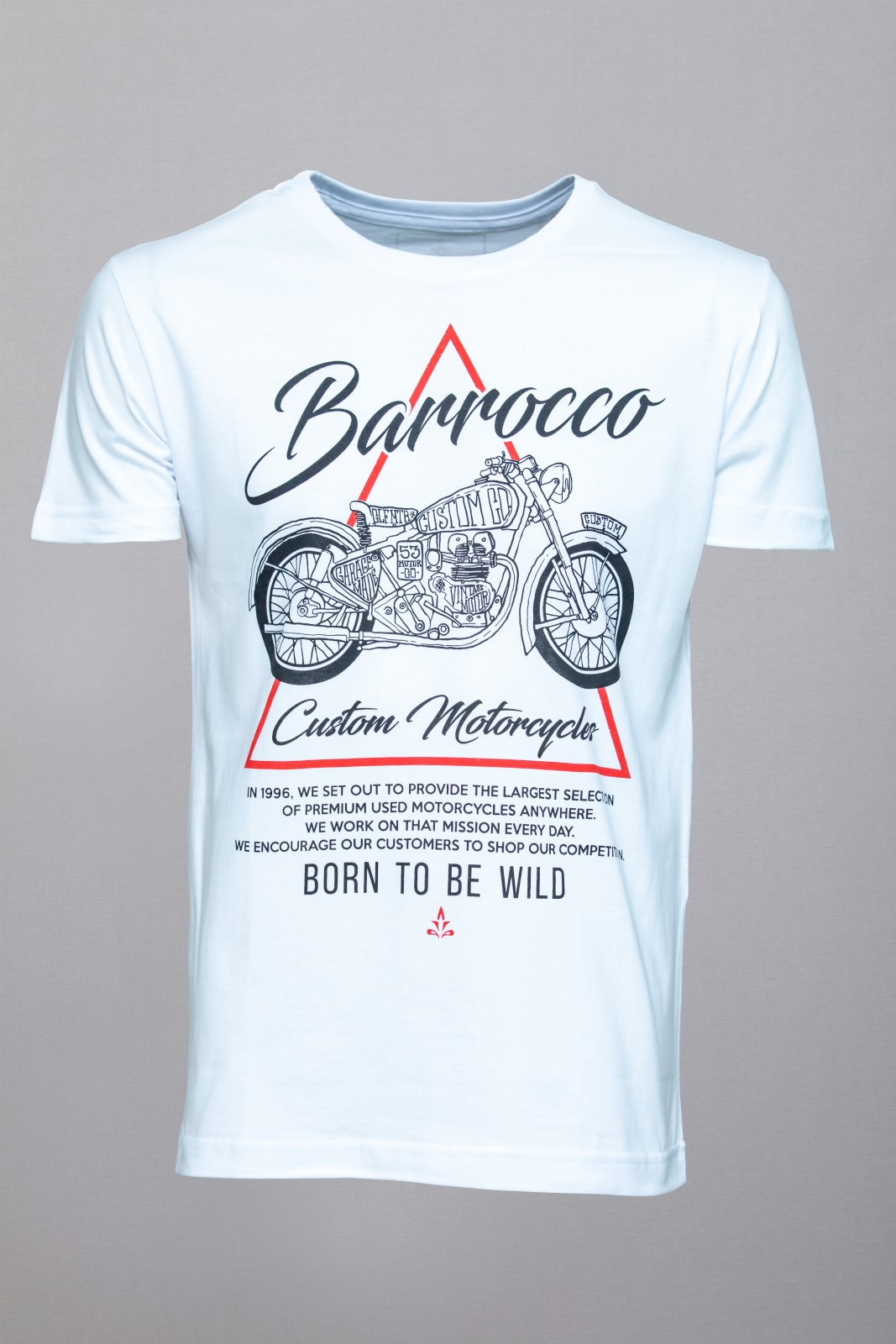 Kit Camisetas Barrocco Motos - 3 Camisetas Cor Branca/ Tamanho M