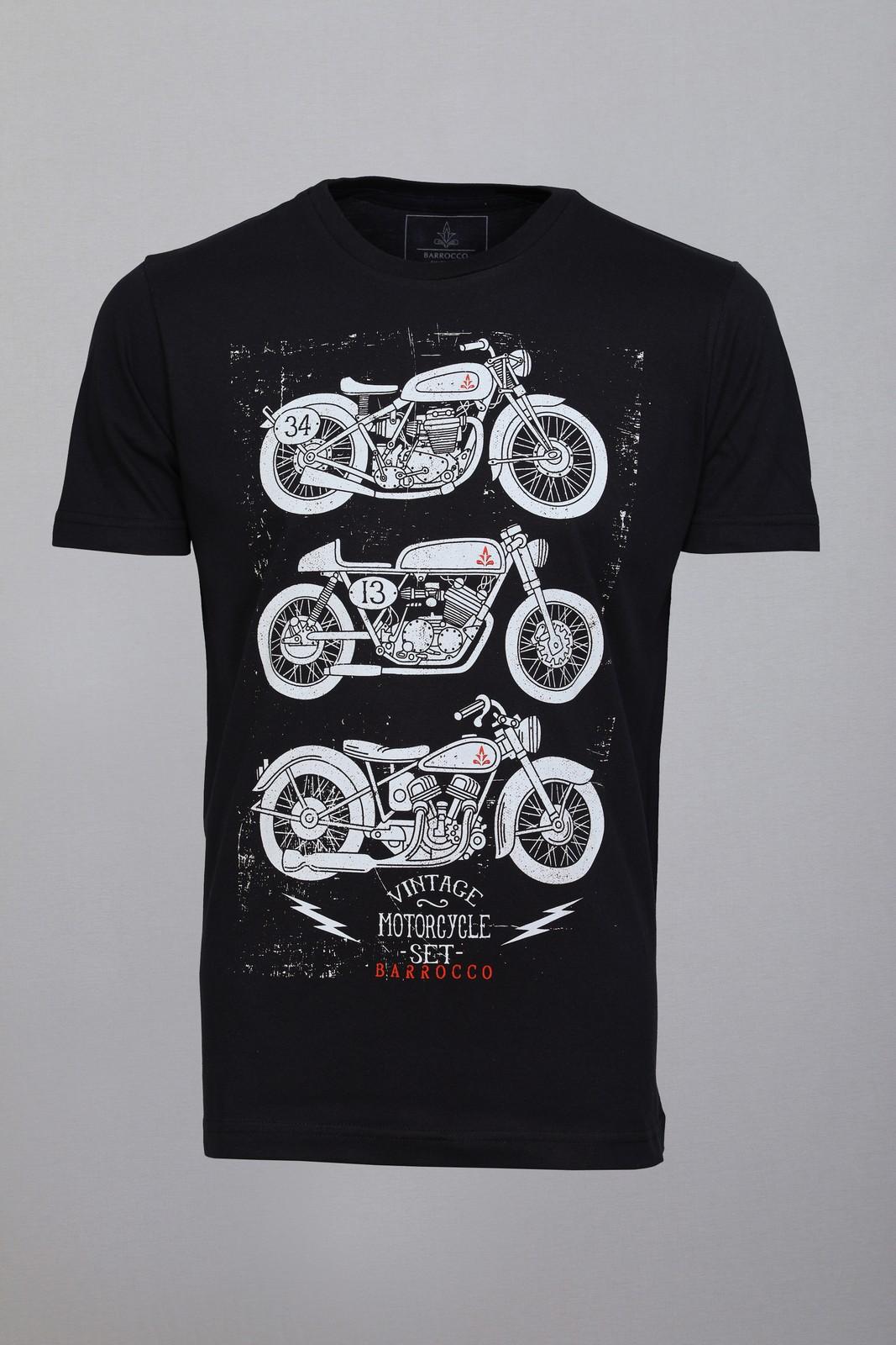 Kit Camisetas Barrocco Motos - 3 Camisetas Cor Preta/ Tamanho P