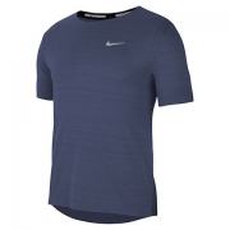 Camiseta Nike DRI FIT Miler TOP SS Marinho