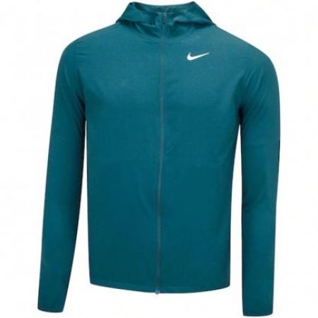 Jaqueta Nike RUN Stripe com Capuz Verde