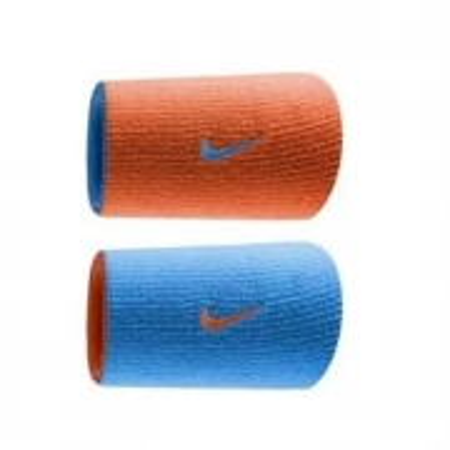 Munhequeira Nike Dupla Face DRI FIT AZUL/LARANJA