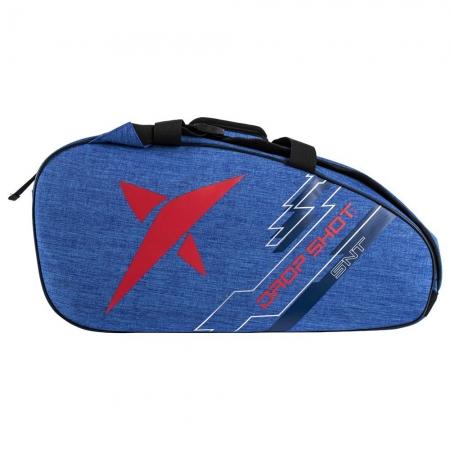 Raqueteira de Beach Tennis DROP SHOT Essential AZUL e Vermelho