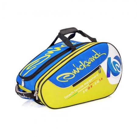 Raqueteira de Beach Tennis Quicksand 2018 Amarelo e AZUL