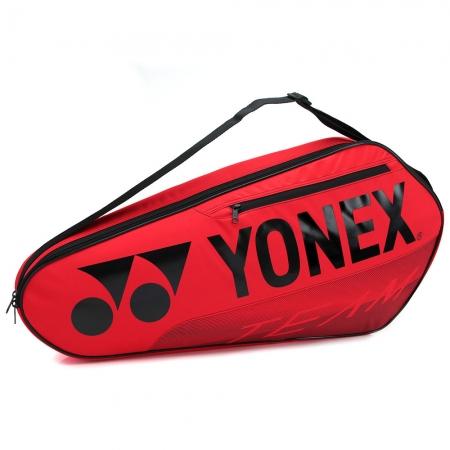 Raqueteira Yonex Team 42123 Simples X3 Vermelho