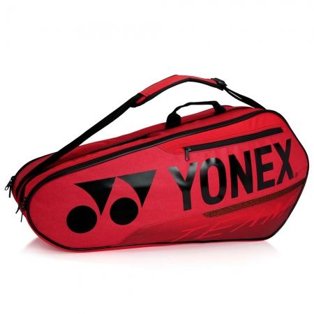 Raqueteira Yonex Team 42126 Dupla X6 Vermelha