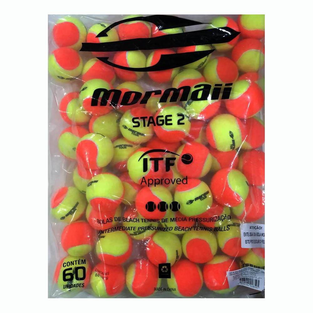 Bola de Beach Tennis Mormaii Tour Saco com 60 Bolas