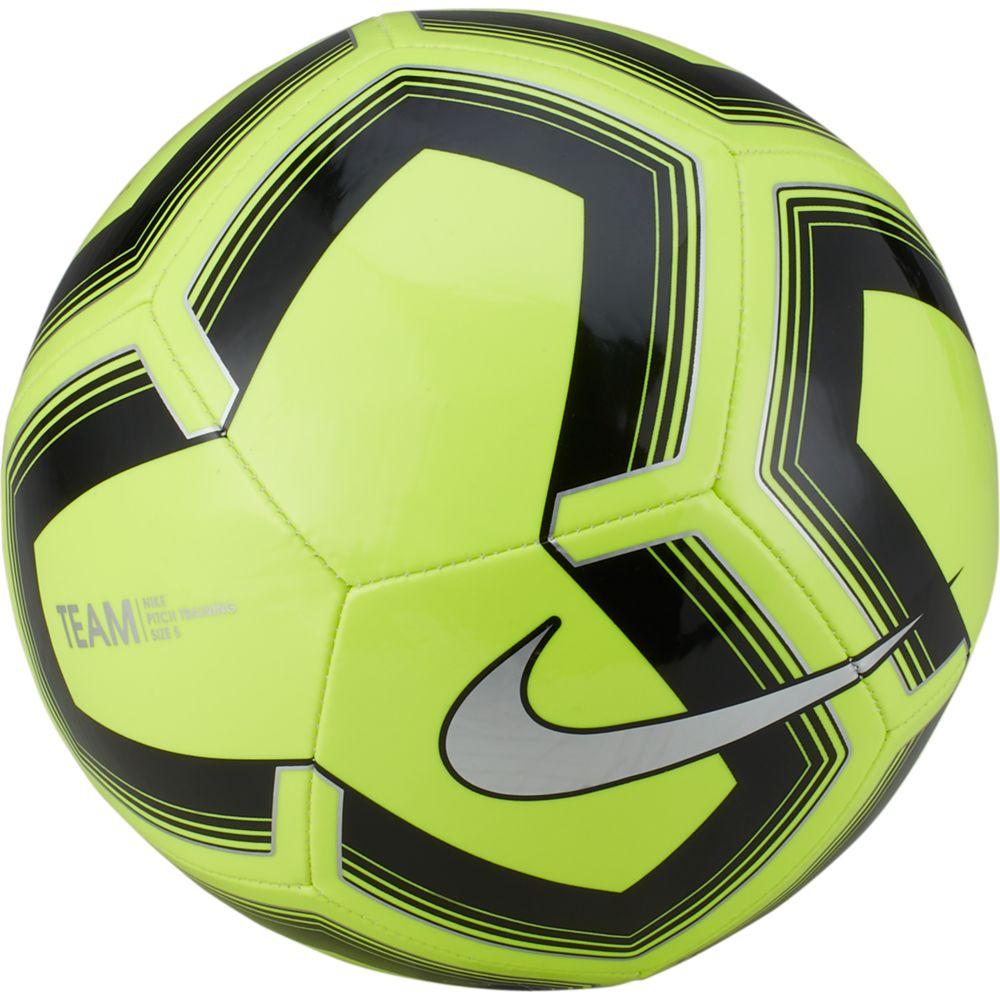 Bola de Futebol Nike PITCH Training Campo Limão e Preto