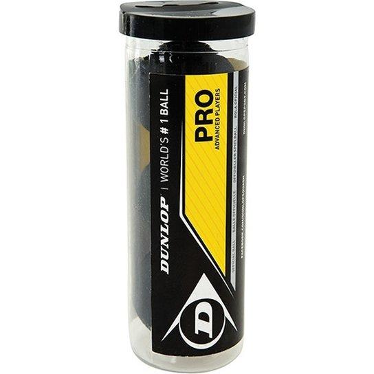 Bola de Squash Dunlop Revelation PRO 2 Pontos Amarelos Tubo com 3 Bolas
