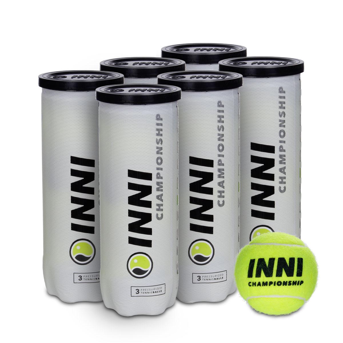 Bola de Tenis INNI Championship PACK com 6 Tubos