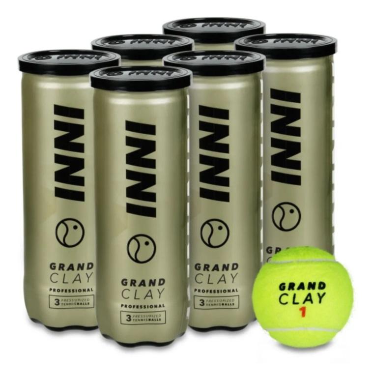 Bola de Tenis INNI GRAND CLAY PACK com 6 Tubos