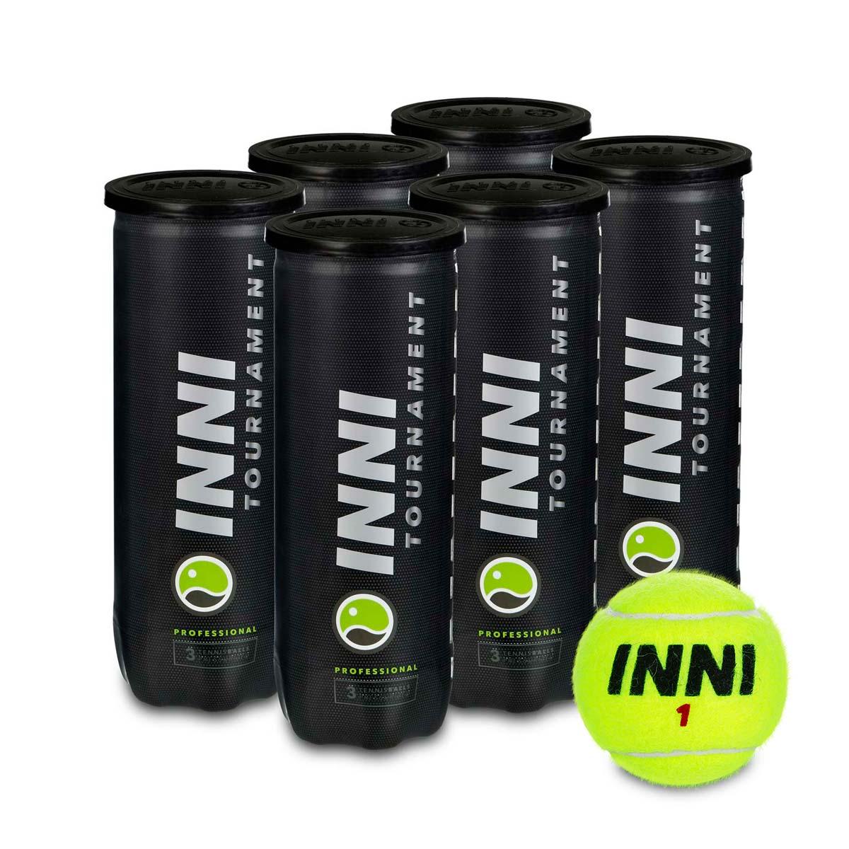 Bola de Tenis INNI Tournament PACK com 6 Tubos